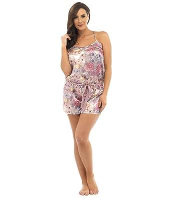 qualité supérieure frais frais haute couture i-Smalls Pyjama Combi-Short Combinaison Motif Floral Tenue ...
