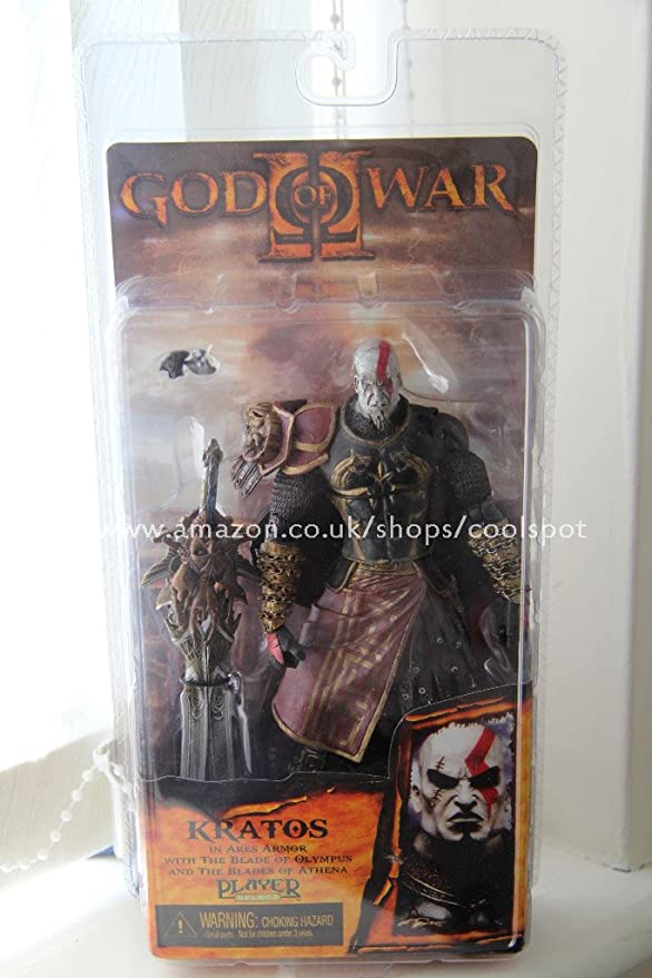 Amazon Com Neca God Of War 2 Video Game Action Figures Series 1 Kratos With Ares Armor Version 2 Toys Games