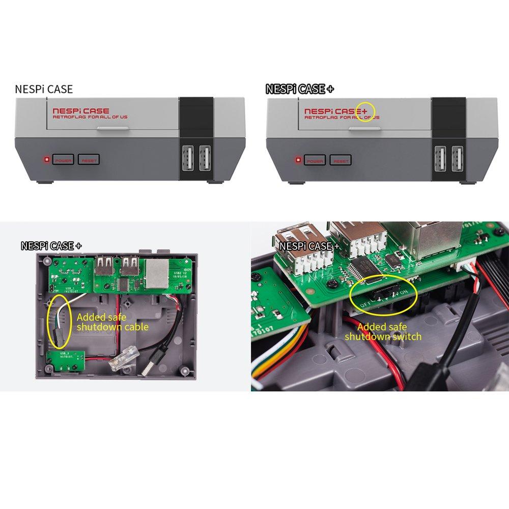 Optimal Shop NESPi Case+,Retroflag NESPi Case+ Plus Functional Power button with Safe Shutdown for Raspberry Pi 3 B+ (B Plus) by Optimal Shop (Image #6)