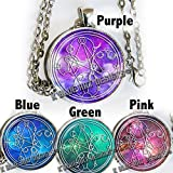 Doctor Who Inspired necklace, says - Wibbly Wobbly Timey Wimey - in Gallifreyan - Galaxy Colors - HM