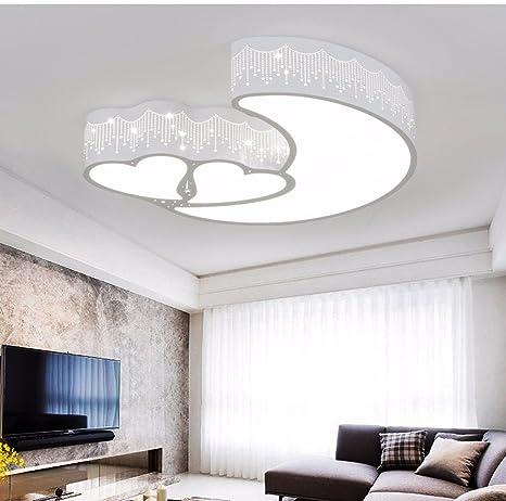Lámpara de techo LED lámpara salón cálidos corazones simples ...