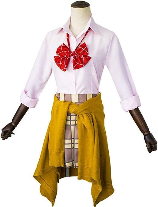 YKJ Trajes de Cosplay de Anime Camisa con Lazo Falda Chaleco Suéter Ropa Diaria Conjunto Completo,Style Two-M: Amazon.es: Hogar