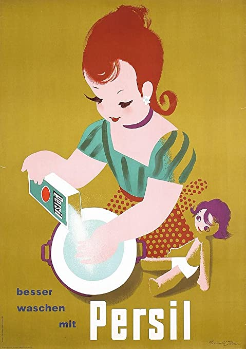 Seeing is Believing Persil Vintage Washing powder advert poster reproduction.