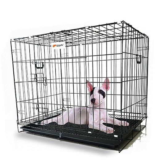 LIULINCUN Jaula Plegable para Perros, Puerta Individual, Pequeño ...