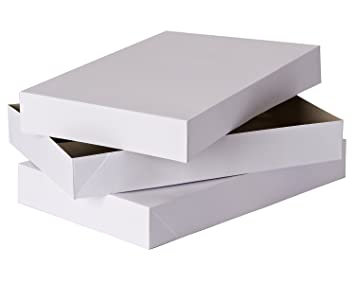 Extra Large White Gift Box With Lid 3 Pack 12 X 19 X 3 For Robes Sweaters And Other Bulky Clothing