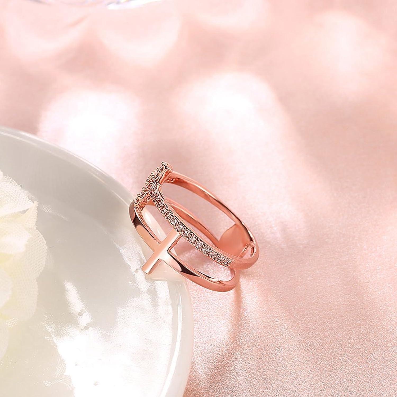 Amazon.com: Women\'s Vintage Religious Cross Rings Enhancer 18K Gold ...