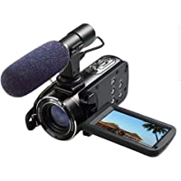 Ordro Full HD Digital Video Camera with External MIC, Model HDV-Z20 (Includes 8GB SD Card as a Free Bonus!) - Digital Camcorder with Professional Camera Mounted Shotgun Boom Microphone by Emperor of Gadgets®