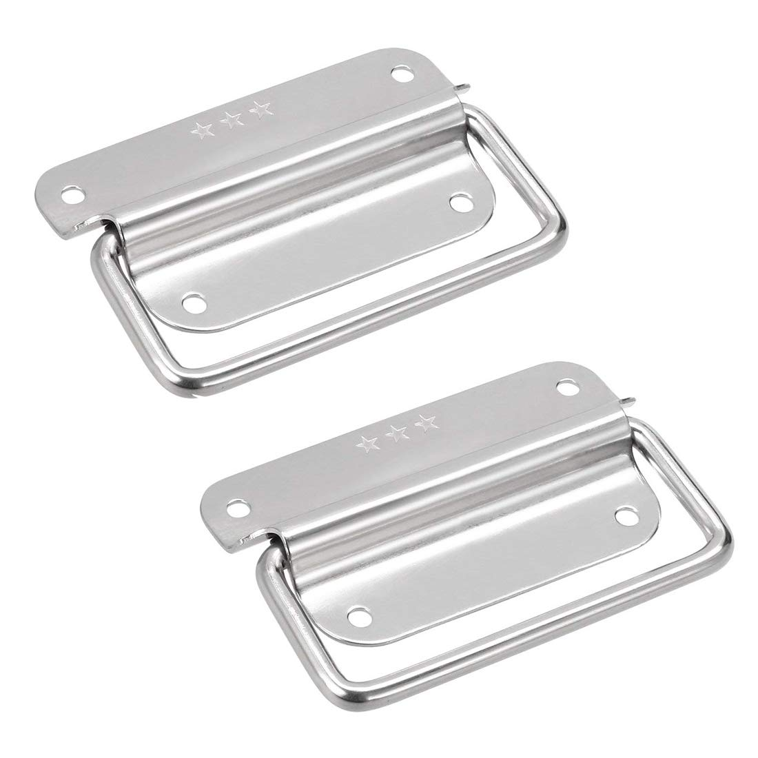 Chest Handles Karcy Iron Pull Handle 4 Tool Box Pull Handles Cabinet Pull Handle Silver Pack of 2