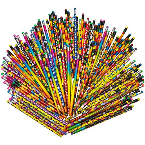 (Kicko Pencil Assortment - 7.5 inches Assorted Colorful Pencils for Kids - Pack of 144 - Exciting School Supplies, Awards and Incentives)