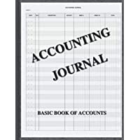 """ACCOUNTING JOURNAL: Accounts book - Book of primary entry - 100 pages - 8.5""""x11"""""""