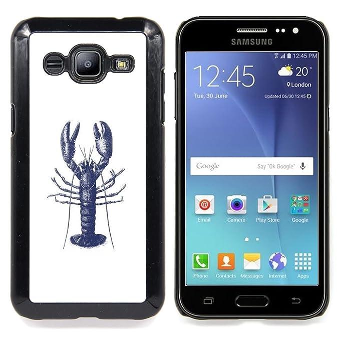 For Samsung Galaxy J2 / J200 Case , Tatuaje de tinta blanca azul ...