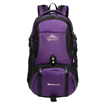 mochilas montaña Hombres al aire libre y mujeres que acampan la mochila impermeable de los deportes ...