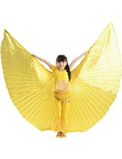 Calcifer /® Girls Children Egyptian Egypt Belly Dance Wings Isis Wings Costume Gift For Big Party Gold