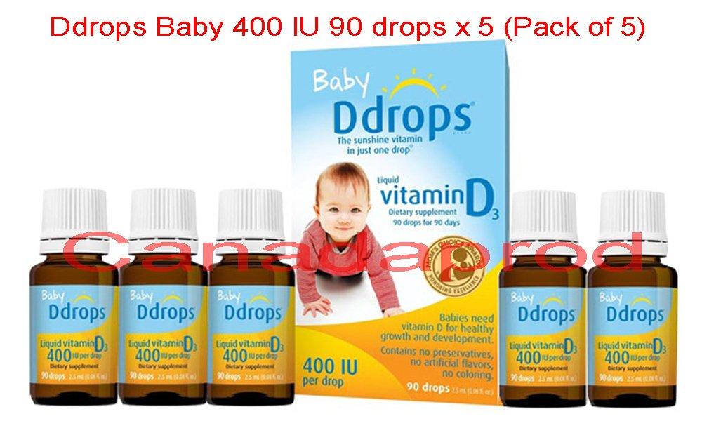 Ddrops Baby 400 IU 90 drops x 5 (Pack of 5)