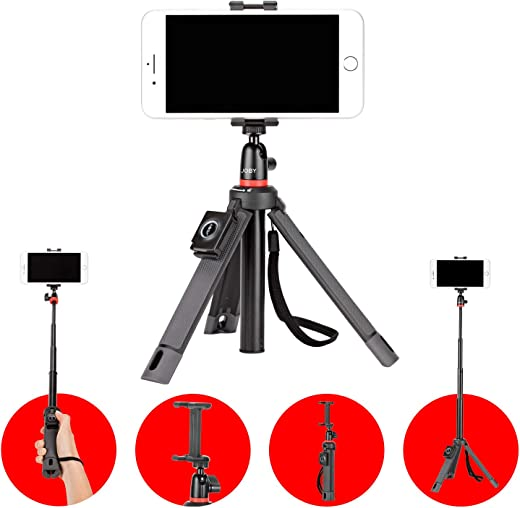 JOBY JB01550-BWW TelePod Mobile Tripod for Smartphone and Camera - Bluetooth Remote, Monopod, Selfie Stick, Vlogging, iPhone, Mirrorless, 360, Action Camera, Lights