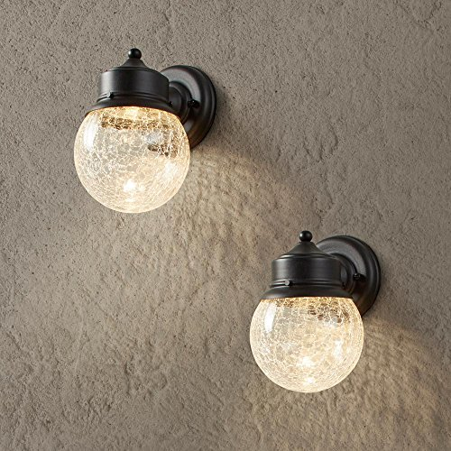 Sandy Black Outdoor LED Wall Mount Lantern (2-Pack)