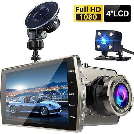 Camara Para Carro Auto De Video Gravadora de Reversa y Frontal HD 1080P Nocturna