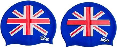 Swimming silicone Head Cap England Flag Union Jack
