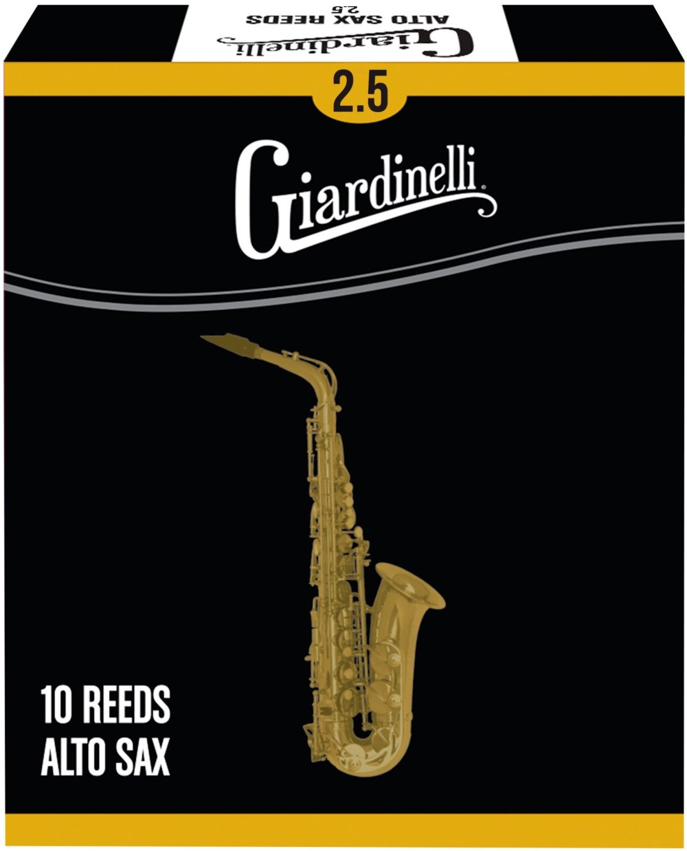 Giardinelli Alto Saxophone Reed 10-Pack 2.5