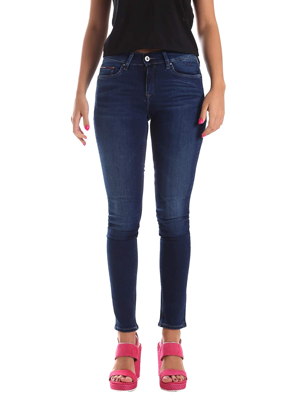TALLA W25/L32 (Talla del fabricante: 3225). Tommy Jeans Mujer MID RISE SKINNY NORA FDBST Vaqueros  skinny