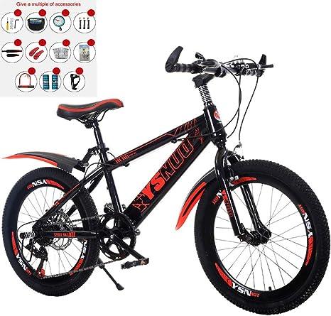 OPIB Bicicleta de montaña para niños de 7 velocidades y 20 ...