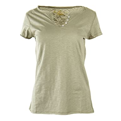 70ae39b4e461 Best Mountain Tee Shirt à Manches Courtes col V Femme M Vert  Amazon ...