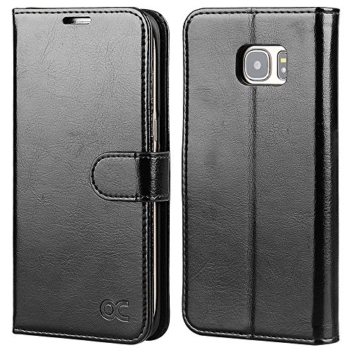 OCASE Galaxy S7 Edge Case Leather Wallet Flip Case For SAMSUNG Galaxy S7 Edge (Black) by OCASE