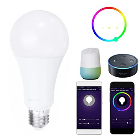 Farway - Bombilla LED inteligente para Alexa E27 de 9 W, 700 lm, RGBW