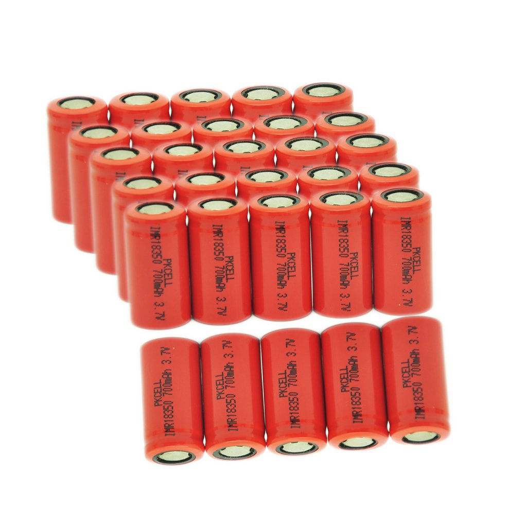7Ah Max Continuous Discharging Current Lithium ion Rechargeable Battery 18350 3.7V 700mAh (30pcs)