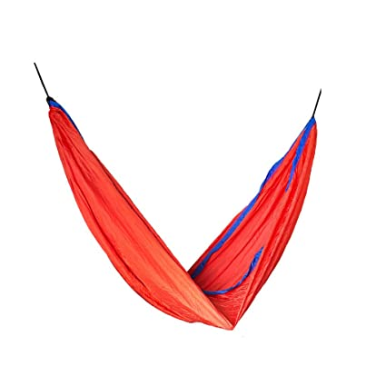 Slack Jack Camping Fabric Hammock (Red and Blue)