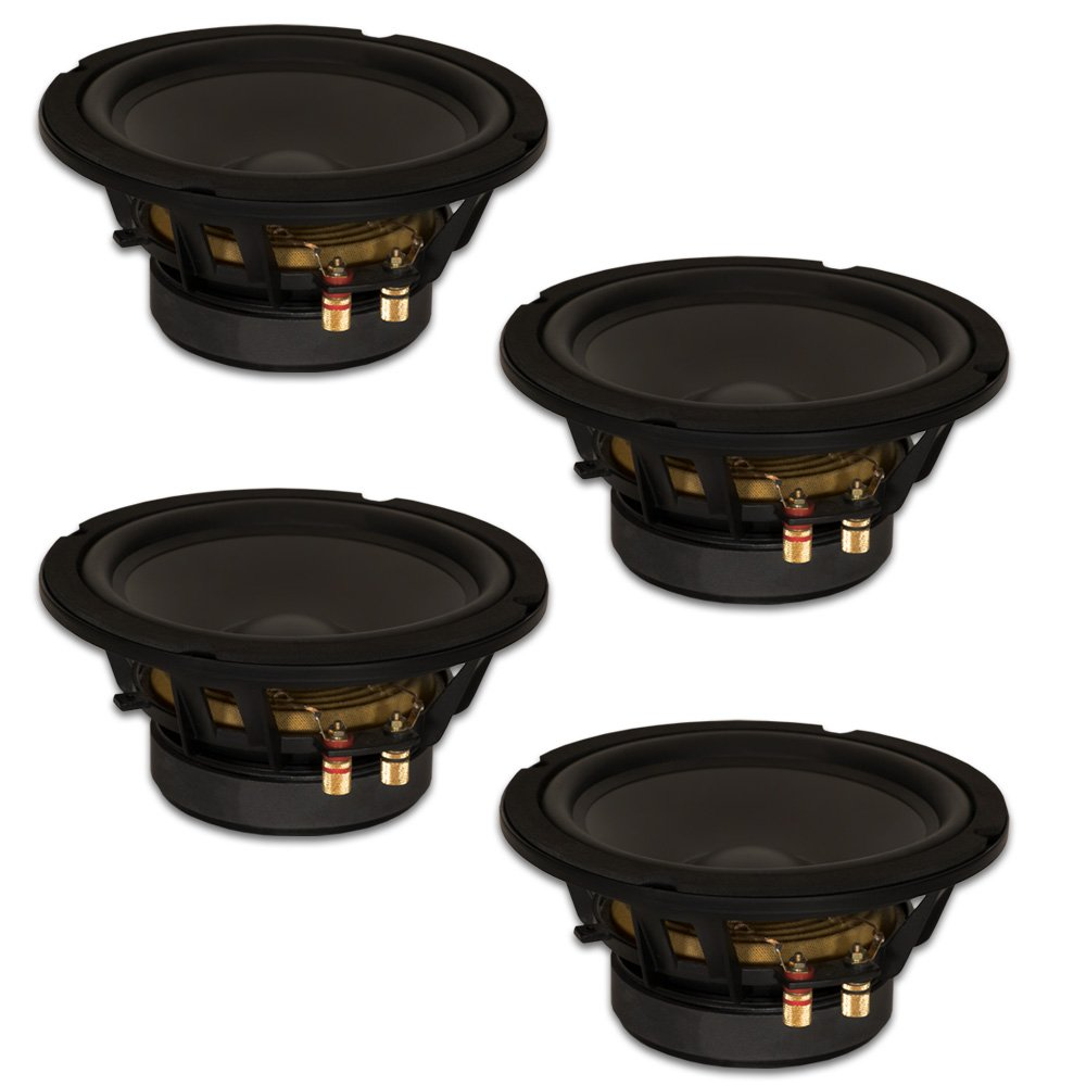 Goldwood Sound, Inc. Stage Subwoofer, Black, Heavy Duty 8ohm 8'' Woofers 330 Watts each Replacement 4 Speaker Set (GW-8PC-8-4) by Goldwood Sound, Inc.
