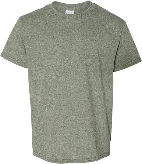 Military Green Gildan Heavy Cotton 100/% Cotton T-Shirt Pack of 6 XS