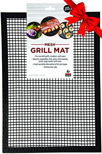 BBQ Butler Grill Mat - Mesh Non-Stick Grill Mat - One Mat - Perfect for Smokers (11 inch x 16 inch)