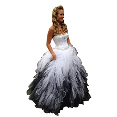 Mollybridal Sweetheart Ruffles Ball Gown Wedding Dresses Tulle Crystals Beaded Corset Back 2019