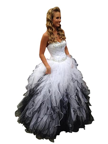 Mollybridal Sweetheart Ruffles Ball Gown Wedding Dresses Tulle ...