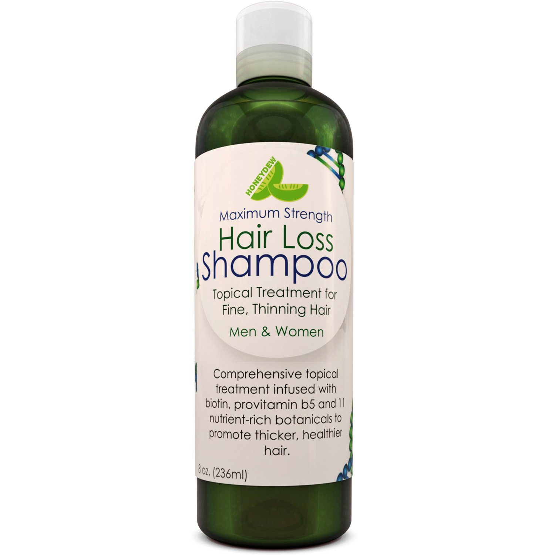 Anti-Hair Loss Natural Biotin Shampoo Hair Loss Fighting Formula Natural Treatment Regrow Hair Anti-Dandruff Anti-Breakage Active Ingredients Rosemary Biotin Zinc Evening Primrose For Women and Men by Honeydew