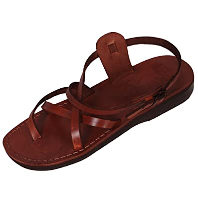 164d405ab541 Sandales de type spartiates en cuir véritable marron, tailles 35 à 46 -  Marron - marron,: Amazon.fr: Chaussures et Sacs