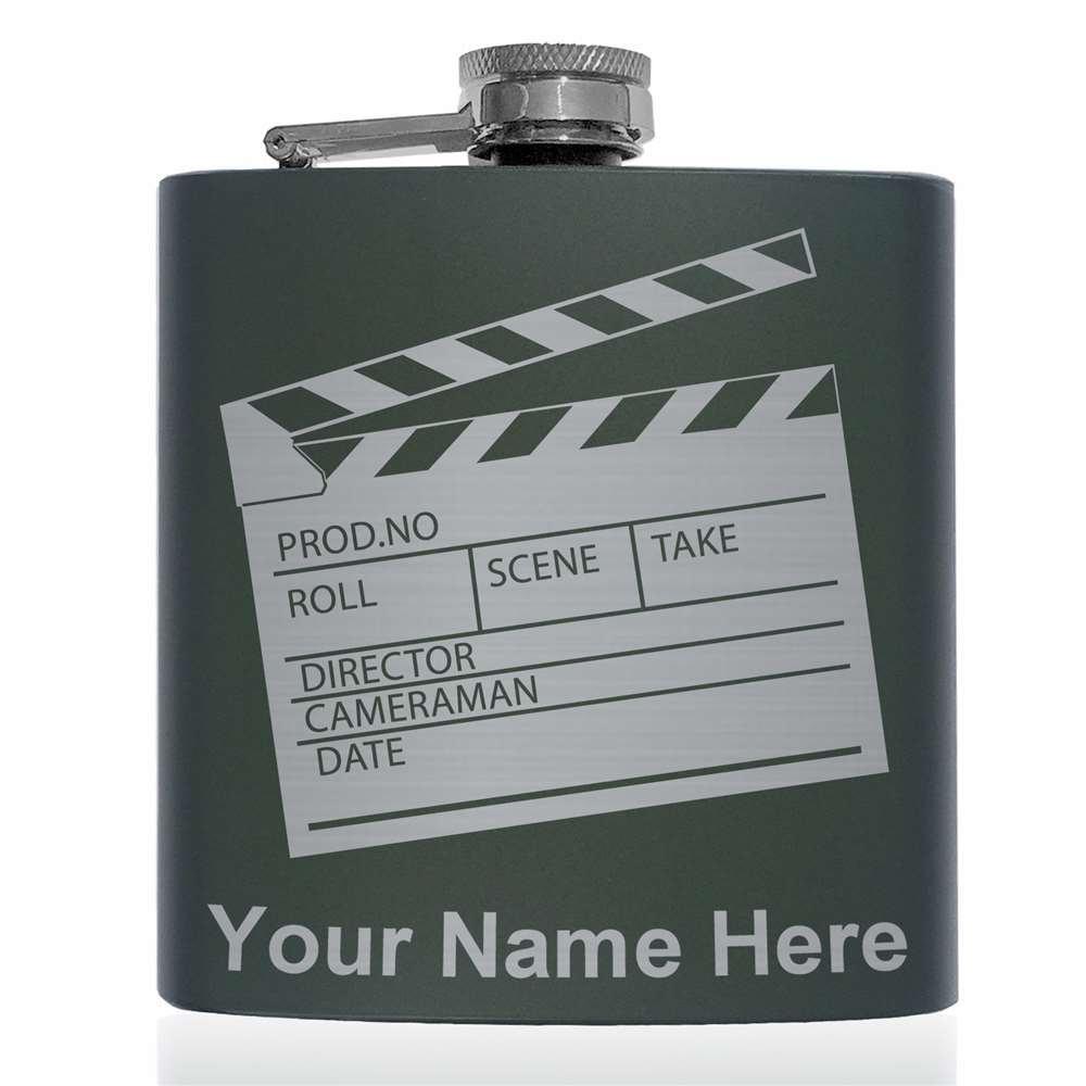 完璧 ステンレススチールフラスコ – Clapperboard Movie Clapperboard (グリーン) – カスタマイズ彫刻Included – (グリーン) B07483VXB6, 資材PRO-STORE:f147baab --- a0267596.xsph.ru