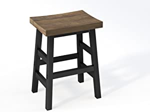 "Sonoma 26"" Reclaimed Wood Counter Height Stool with Metal Legs, Natural"