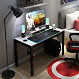 DlandHome Gaming Computer Desk with RGB LED Mouse Pad, 47 inches All-in-one Gaming Table/Workstation with Display Stand, ND14