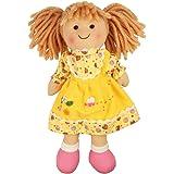 """Bigjigs Toys Daisy Doll 28cm (11"""") - Ragdoll Cuddly Toy"""