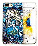 Cartoon Movie Character Themed Fan Art CLEAR Hybrid TPU Surround with Hard Back Cover Case for iPhone 7/ 7 Plus Range (Alice, iPhone 7 Plus (5.5 inch ))