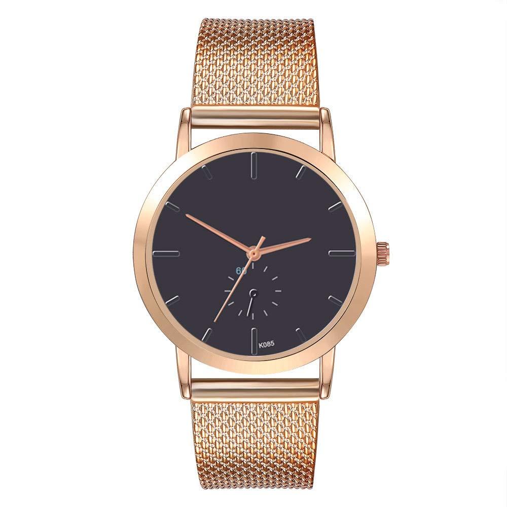 Womens Watches On Sale, VANSOON Fashion Luxury Leisure Auger Silicone Strap Stainless Steel Quartz Watch Wristwatch Teen Girls Dress Watches Birthday Gifts Bracelet Watch