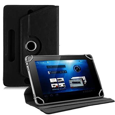 TGK Universal 7 Inch 360 Degree Rotating Leather Case Cover Stand for Galaxy Tab Tablet PC  Black  Bags,Cases   Sleeves