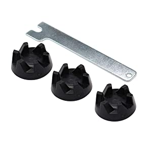 ApplianPar 3 Pack 9704230 Blender Drive Coupling with Spanner Wrench Tool Replacement for KitchenAid Blenders WP9704230VP WP9704230