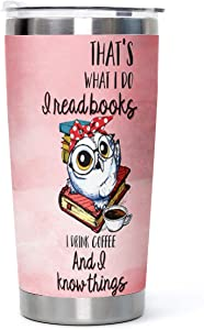 20oz Cute Owl Stainless Steel Tumbler with Lid Pink Vacuum Insulated Tumbler Cup Water Coffee Home Office Outdoor Works Birthday Christmas Gifts to Daughters Friends Girls