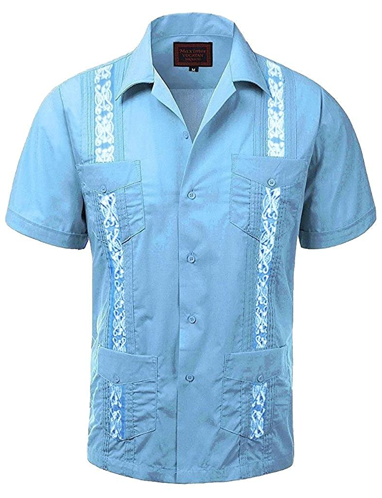 Maximos Guayabera Men's Casual Dress Shirts