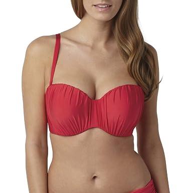 596e8317be Amazon.com  Panache Swim Women s Marina Bandeau Bikini Top  Clothing