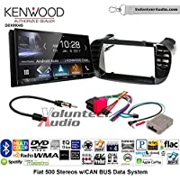 Volunteer Audio Kenwood DDX9904S Double Din Radio Install Kit with Apple CarPlay Android Auto Bluetooth Fits 2012-2015 Fiat 500 (Black)