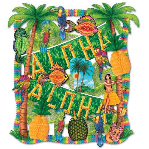 Tissue Fish Craft Kit (Beistle 55605 27-Piece Luau Decorating Kit)